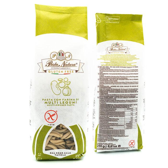 Caserecce Multi Legumi - Senza glutine - Pasta Natura