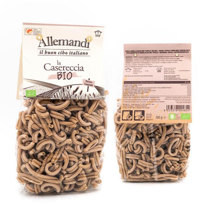 Casereccia integrale Senatore Cappelli - Pasta Biologica - Pastificio Allemandi