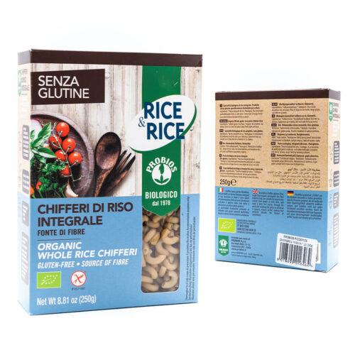 Chifferi di riso integrale biologico - Senza glutine - Probios