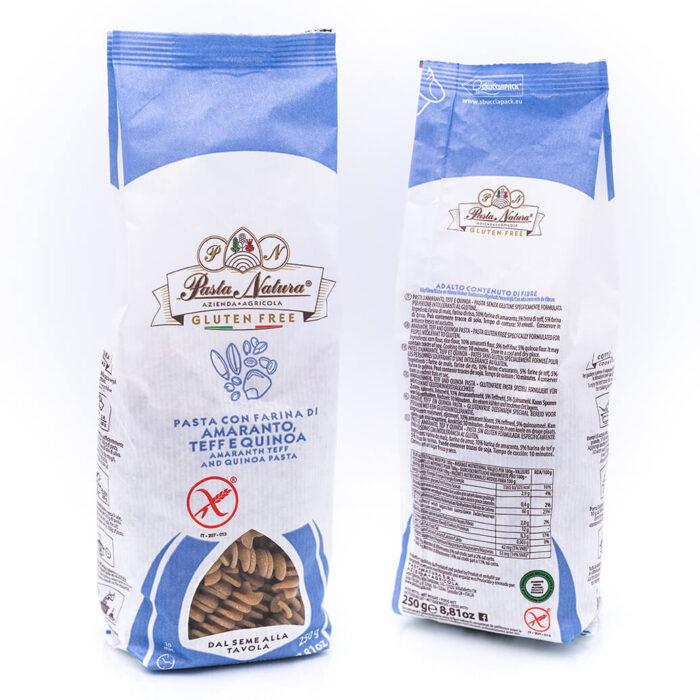 Fusilli di amaranto, teff e quinoa - Senza glutine - Pasta Natura