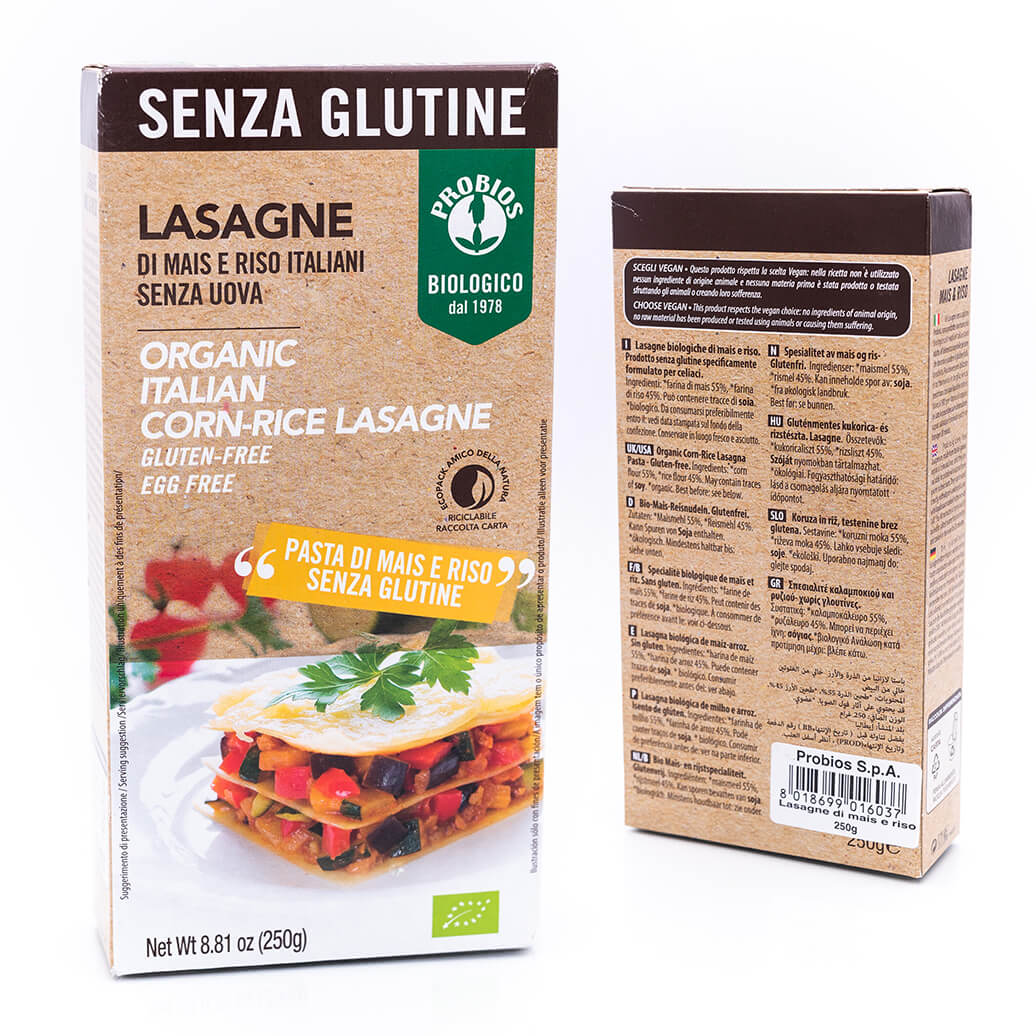 Lasagne biologiche - Senza glutine - Probios
