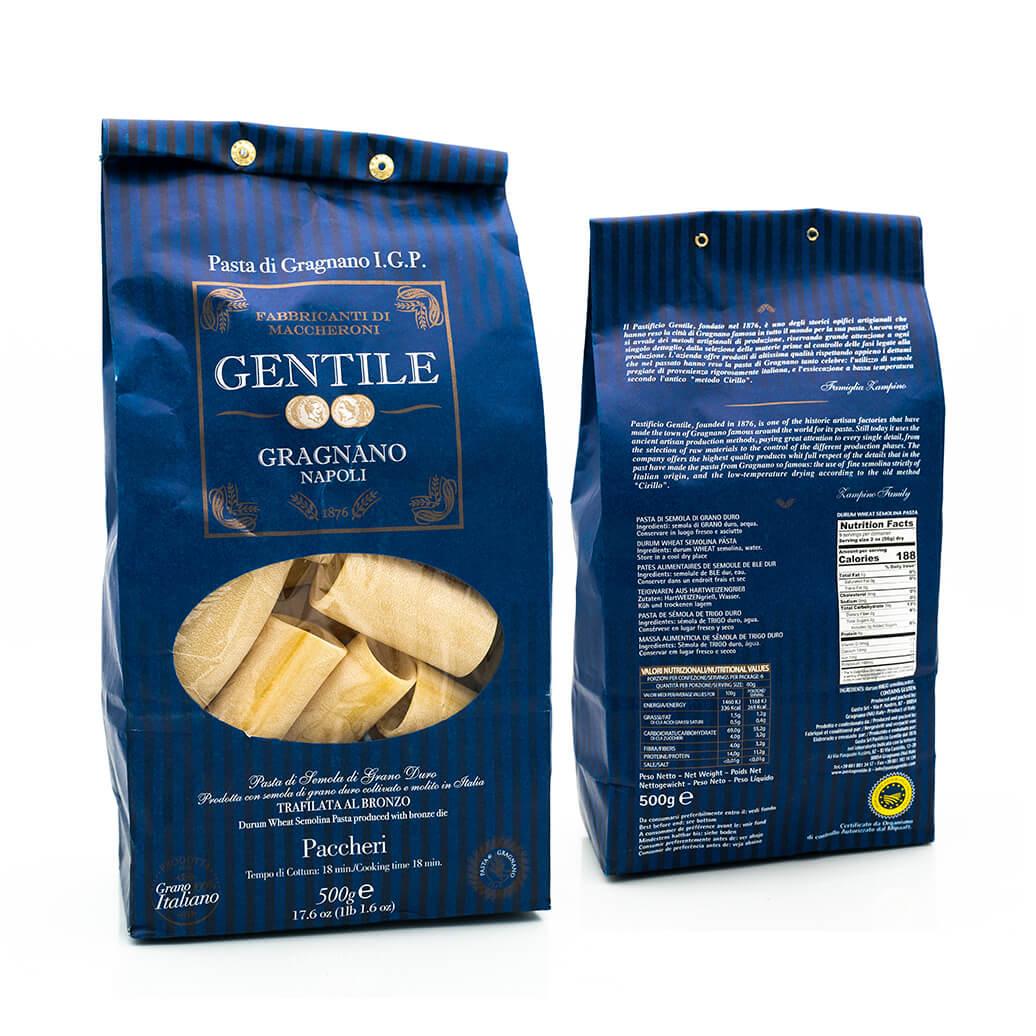 Paccheri - Pasta di Gragnano IGP - Pastificio Gentile
