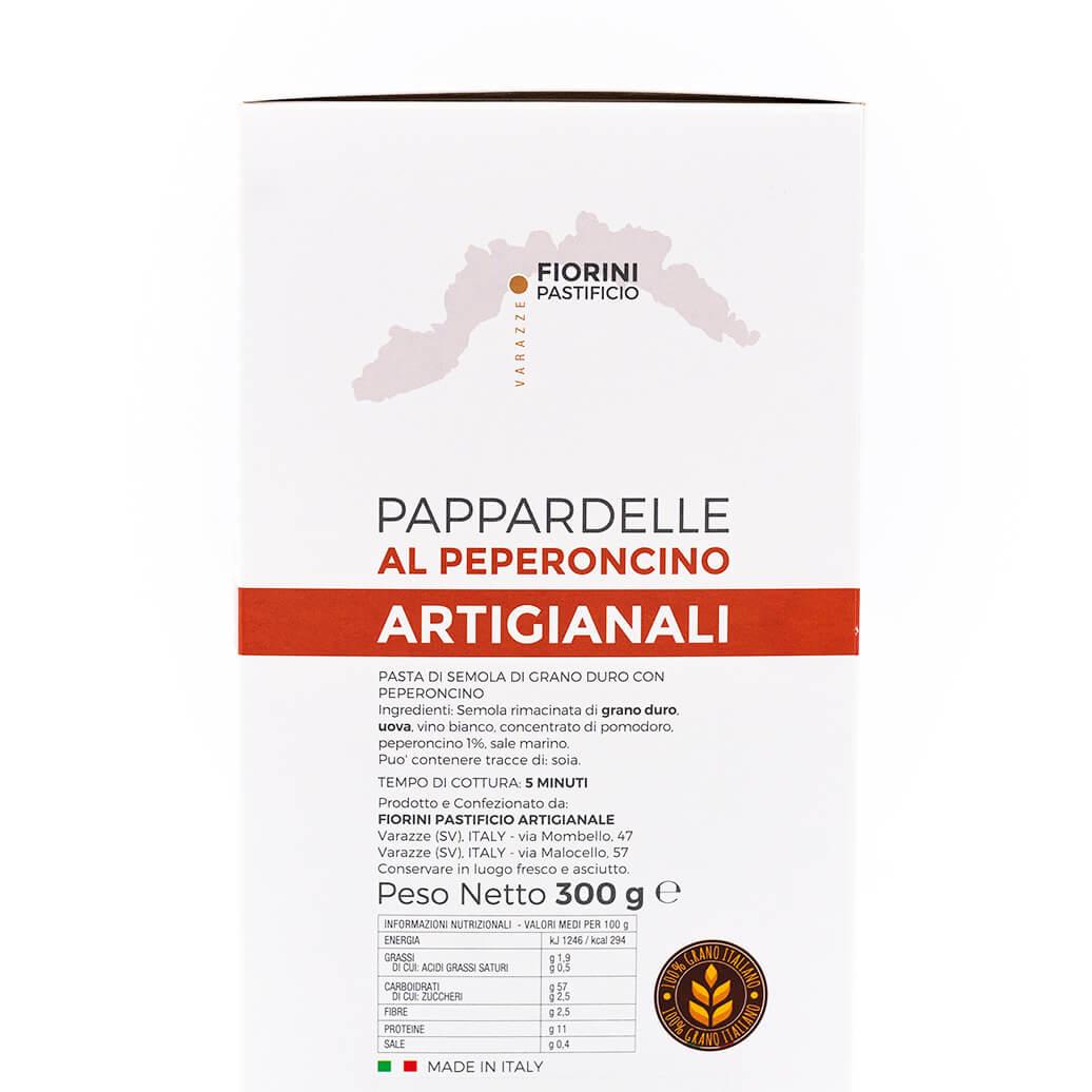 Pappardelle al peperoncino - La Gaia - Fiorini - Ingredienti