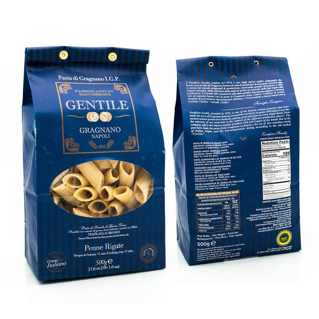 Penne Rigate - Pasta di Gragnano IGP - Pastificio Gentile