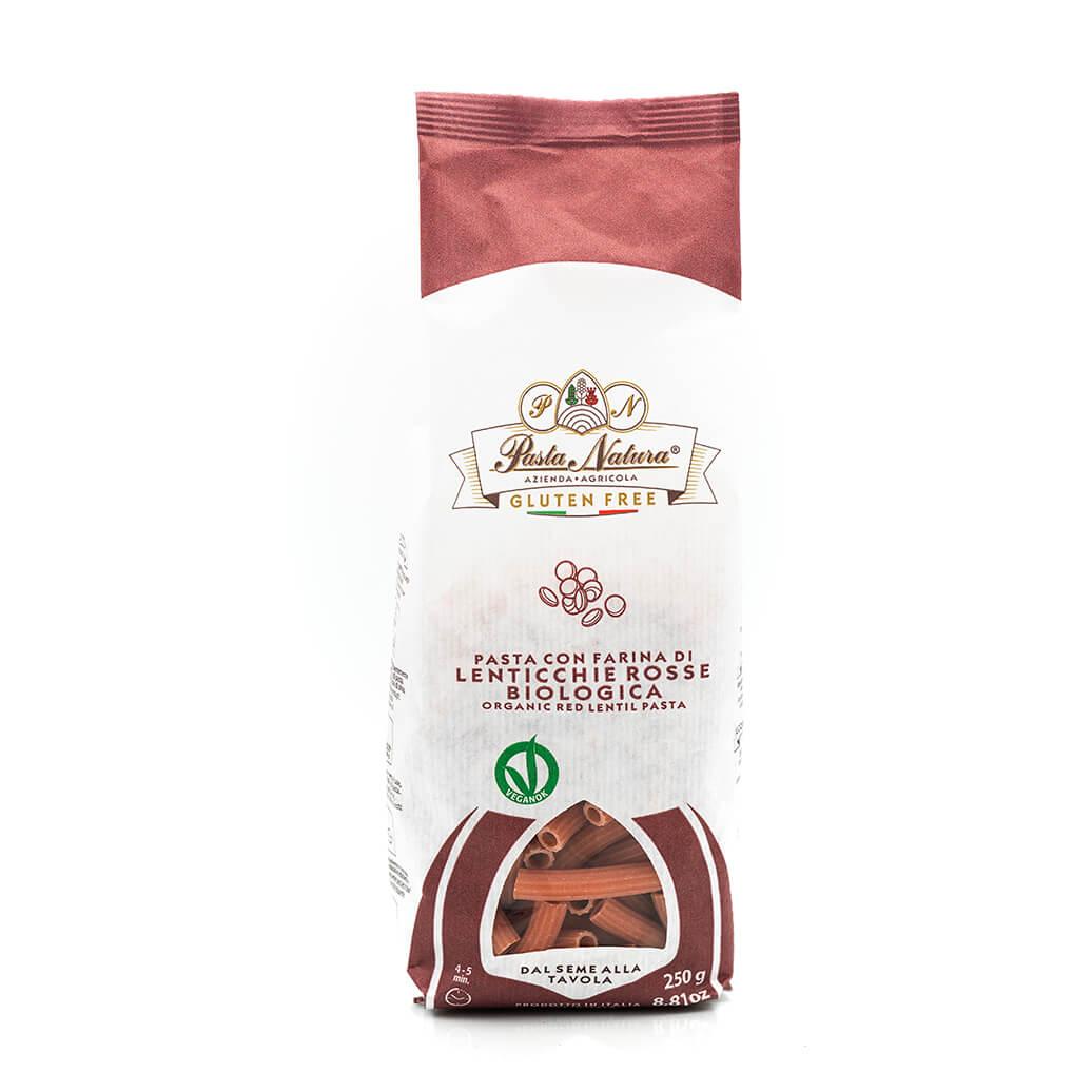 RIgatoni alle lenticchie rosse bio - Pasta Natura - Senza glutine - Fronte