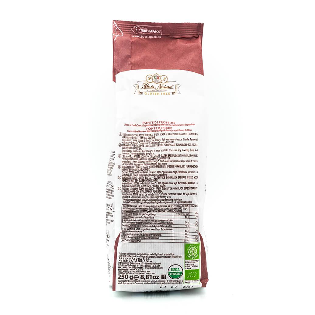 RIgatoni alle lenticchie rosse bio - Pasta Natura - Senza glutine - Retro