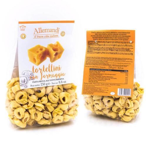 Tortellini con formaggio - Pasta all'uovo ripiena - Allemandi