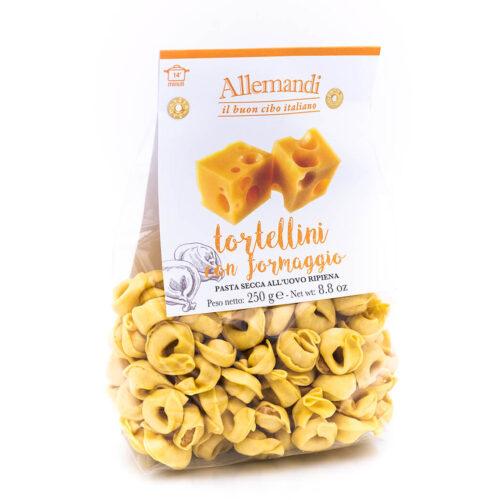 Tortellini con formaggio - Pasta all'uovo ripiena - Allemandi Fronte