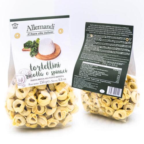 Tortellini ricotta e spinaci - Pasta all'uovo ripiena - Allemandi