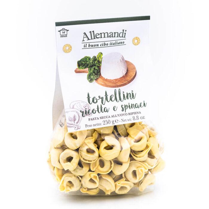 Tortellini ricotta e spinaci - Pasta all'uovo ripiena - Allemandi Fronte