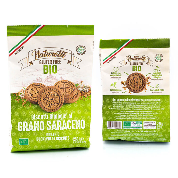 Biscotti biologici al grano saraceno - Senza glutine - Naturotti