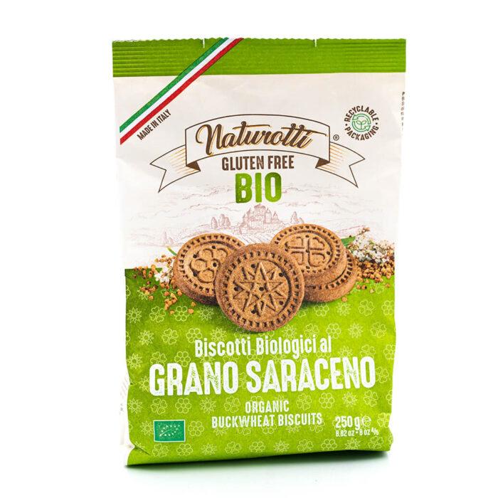 Biscotti biologici al grano saraceno - Senza glutine - Naturotti Fronte