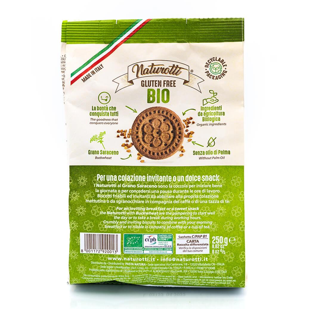 Biscotti biologici al grano saraceno - Senza glutine - Naturotti Retro