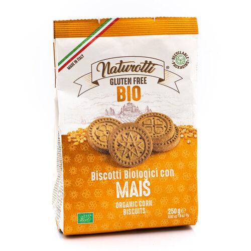 Biscotti biologici al mais - Senza glutine - Naturotti Fronte