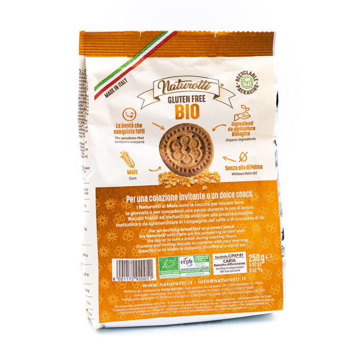 Biscotti biologici al mais - Senza glutine - Naturotti Retro