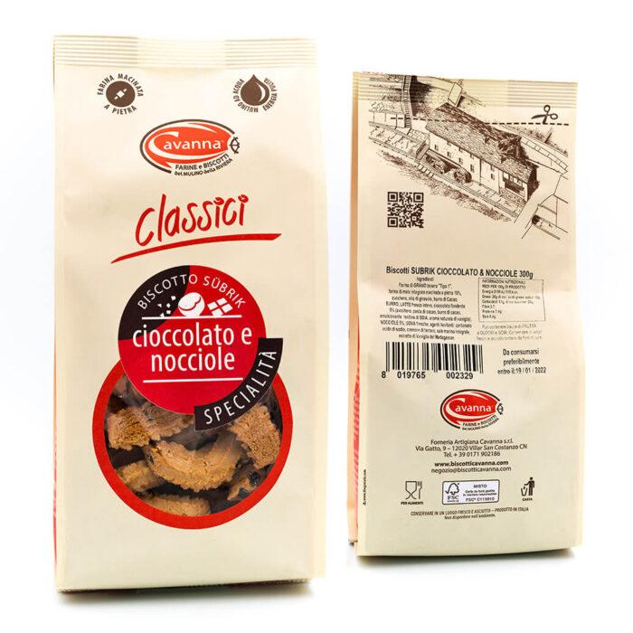 Biscotto Subrik - Cioccolato e nocciole - Cavanna