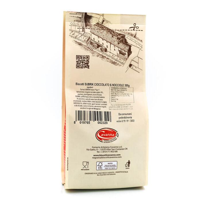 Biscotto Subrik - Cioccolato e nocciole - Cavanna Retro