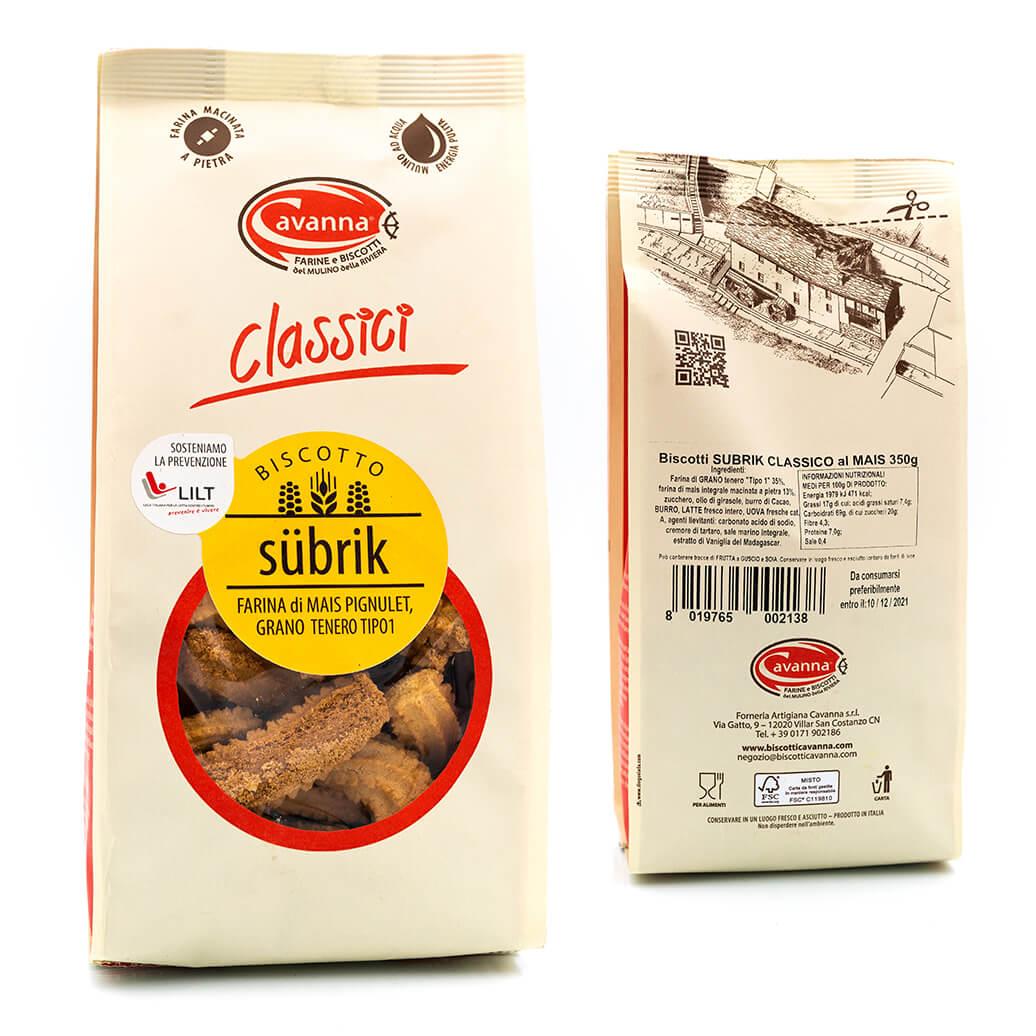 Biscotto Subrik - Farina di mais - Cavanna