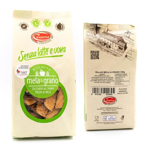 Biscotto Subrik - Mela e grano - Senza latte e uova - Cavanna