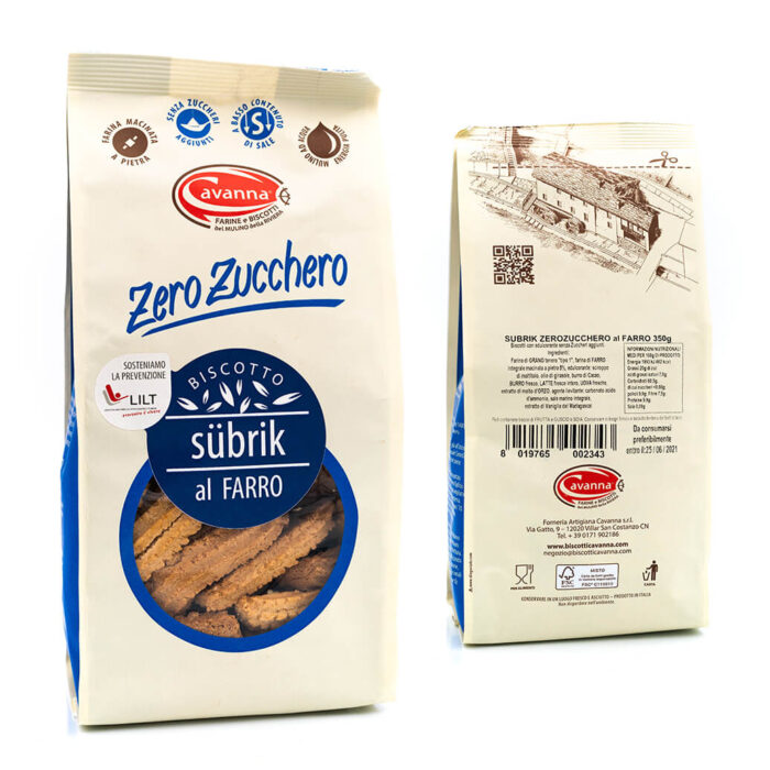Biscotto Subrik al farro – Senza zucchero – Cavanna