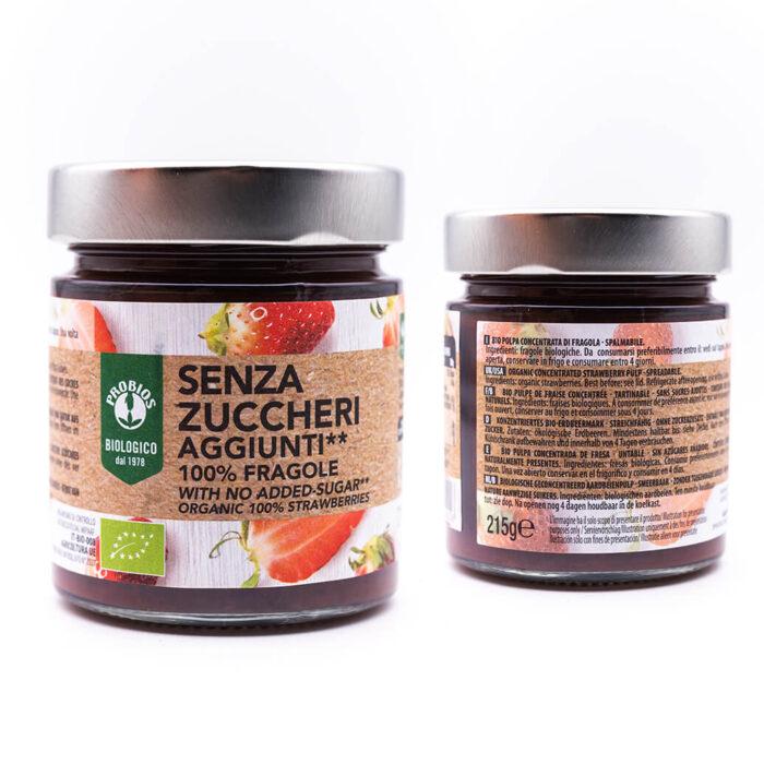 Composta biologica di fragole - Senza zuccheri - Probios