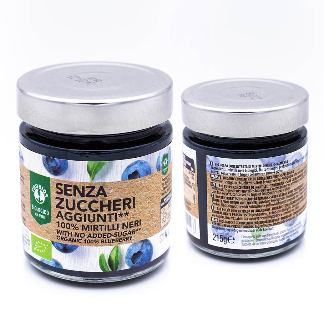 Composta biologica di mirtilli neri - Senza zuccheri - Probios