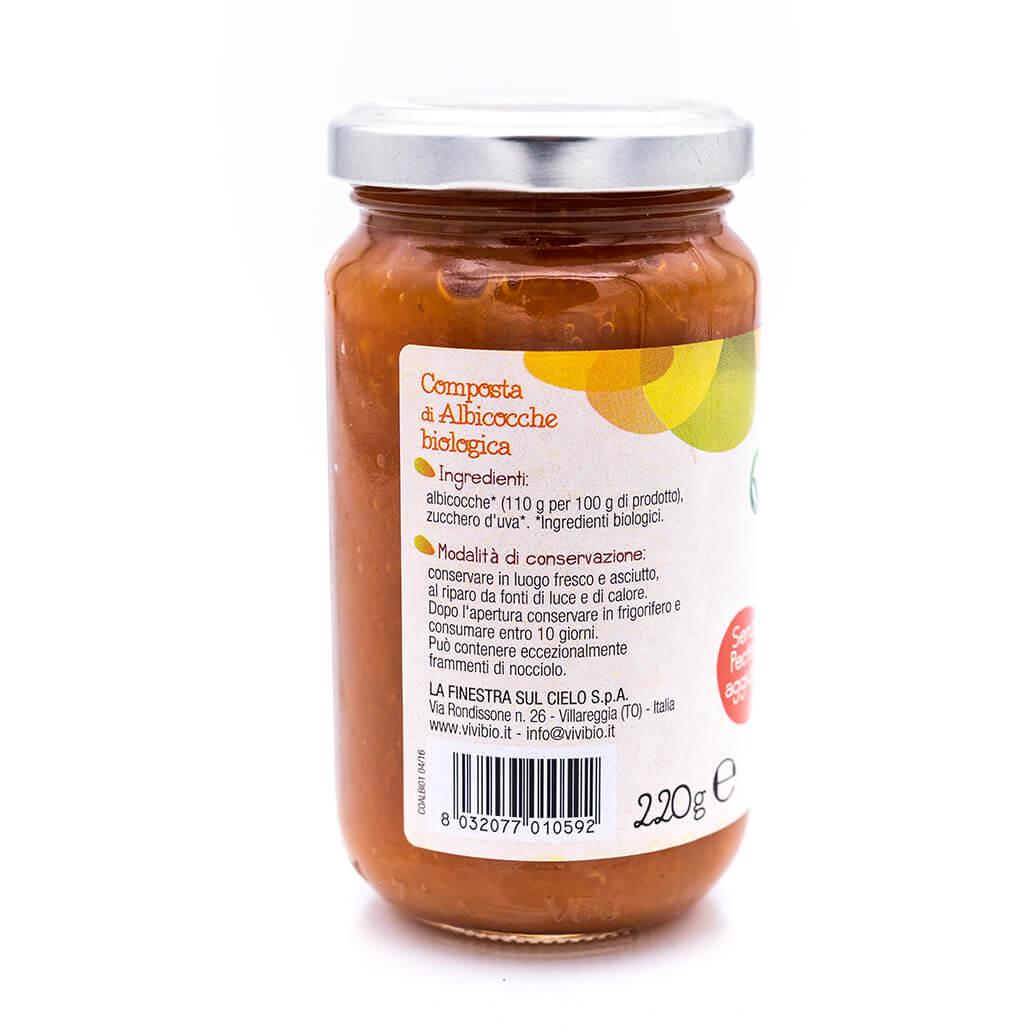 Composta di albicocche - Biologica - Vivibio Retro