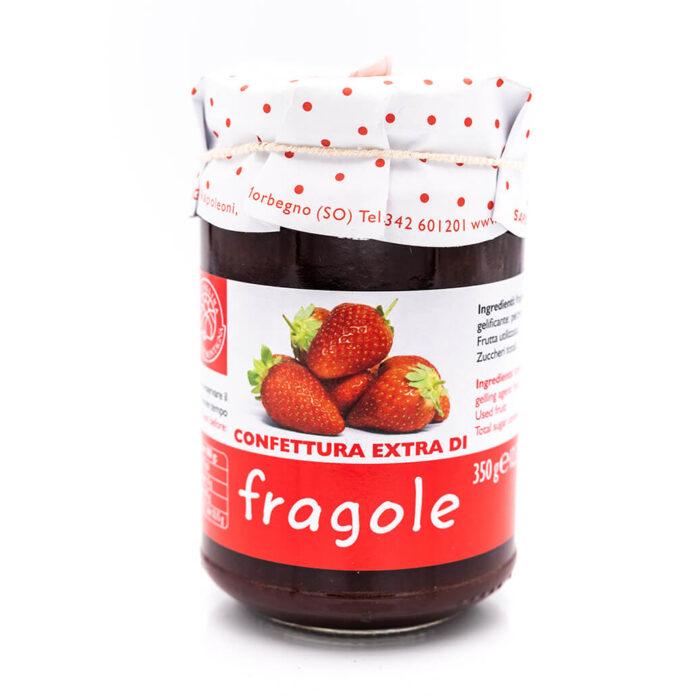 Confettura extra di fragole - Sapori di Montagna Fronte