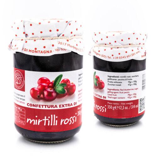 Confettura extra di mirtilli rossi - Sapori di Montagna