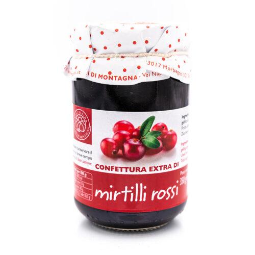 Confettura extra di mirtilli rossi - Sapori di Montagna Fronte