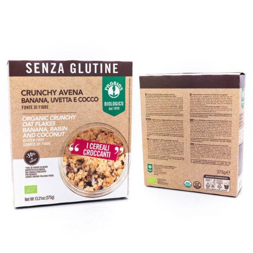 Crunchy avena con banana, uvetta e cocco - Senza glutine - Probios