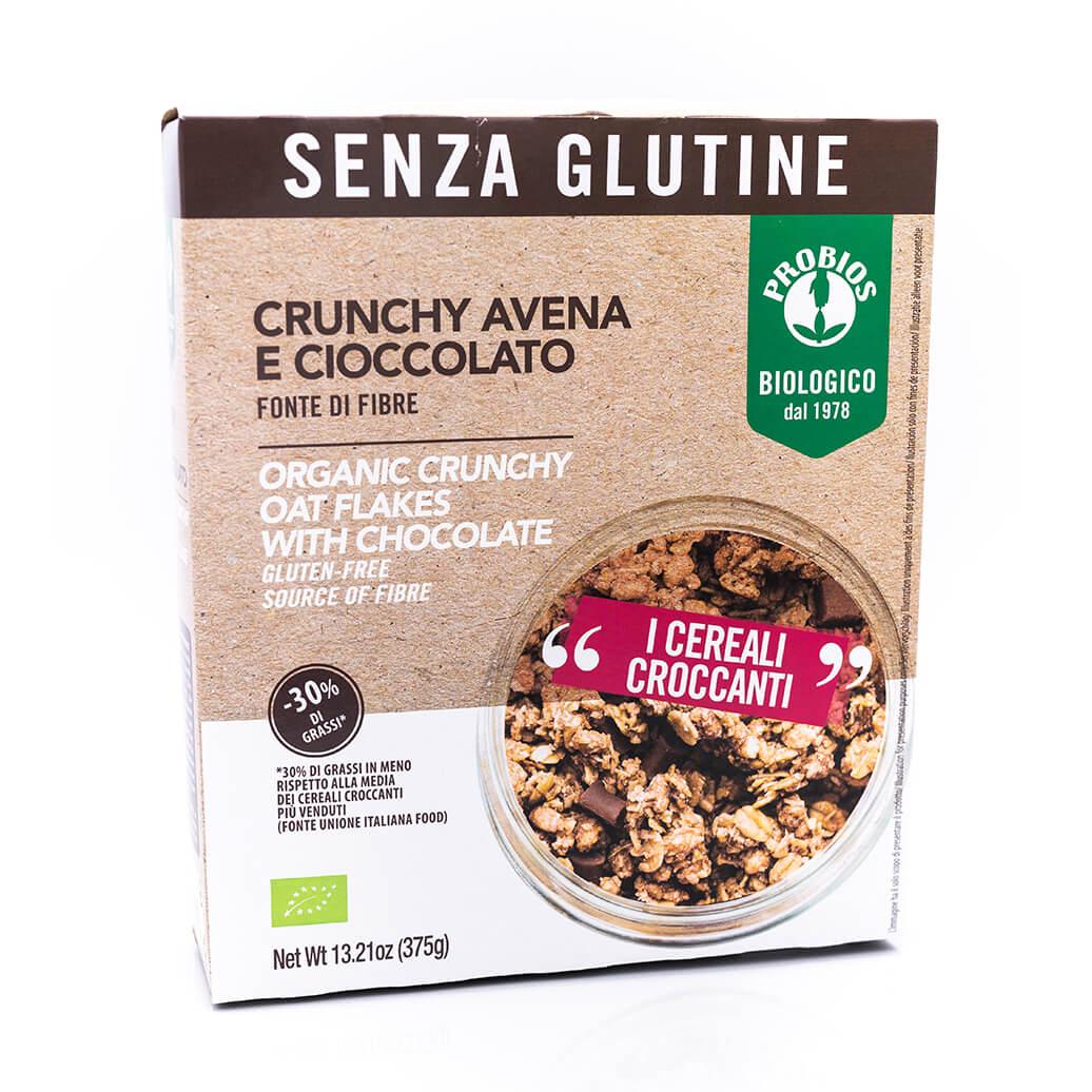 Crunchy avena e cioccolato biologici - Senza glutine - Probios Fronte