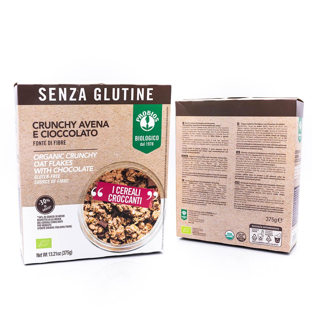 Crunchy avena e cioccolato biologici - Senza glutine - Probios