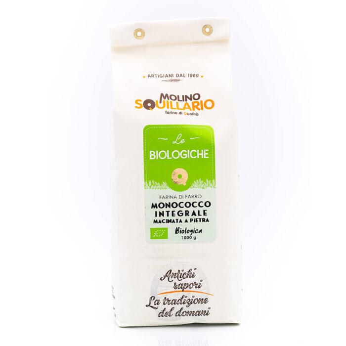 Farina di Farro Monococco Integrale – Bio - Molino Squillario Fronte