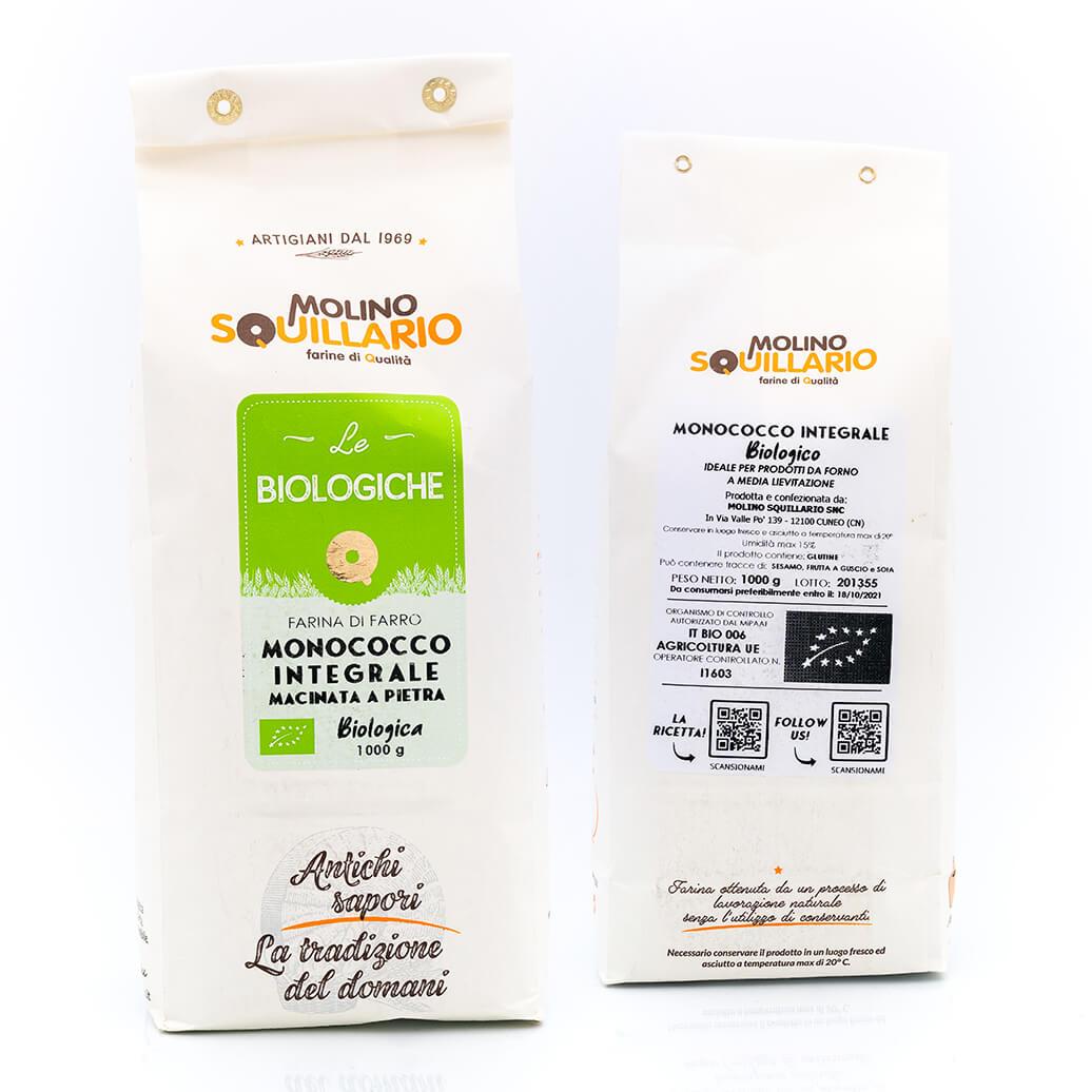 Farina di Farro Monococco Integrale – Bio - Molino Squillario