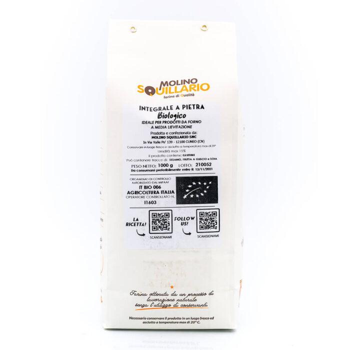 Farina di Grano Tenero Integrale – Bio – Molino Squillario Retro