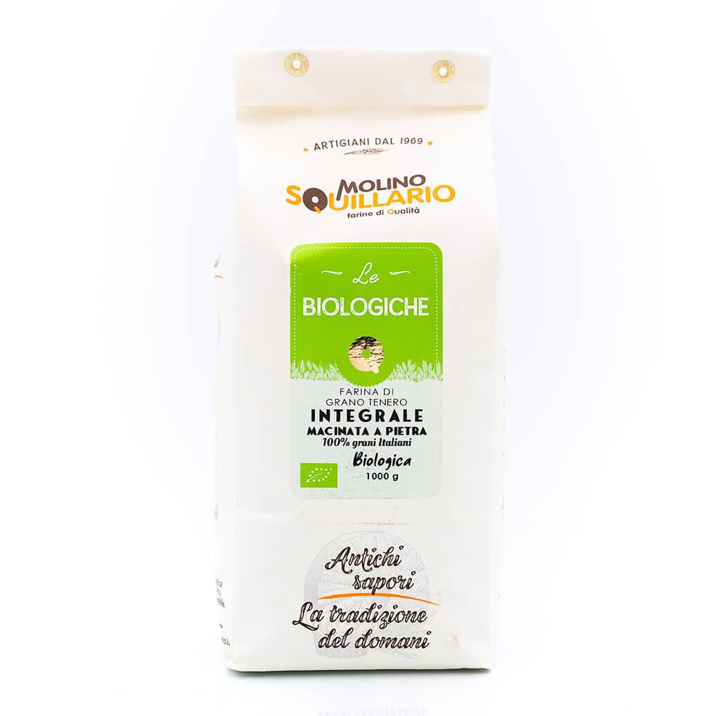 Farina di Grano Tenero Integrale – Bio – Molino Squillario fronte