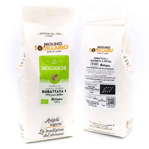 Farina di grano tenero Buratta 1 - Bio - Molino Squillario