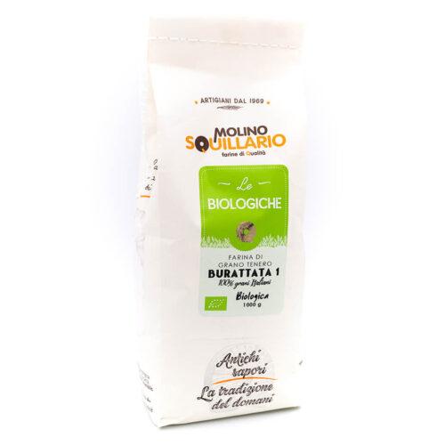 Farina di grano tenero Buratta 1 - Bio - Molino Squillario Fronte