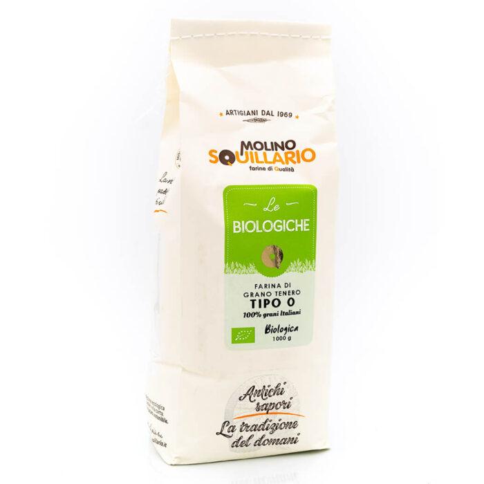 Farina di grano tenero tipo 0 - Bio - Molino Squillario Fronte