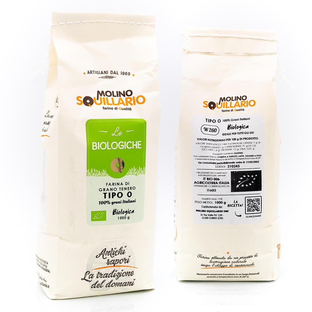 Farina di grano tenero tipo 0 - Bio - Molino Squillario