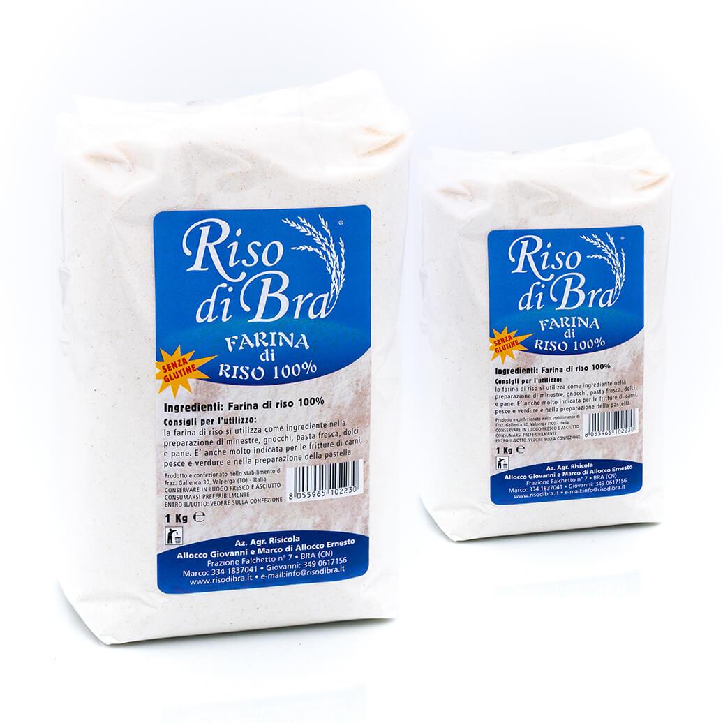 Farina di riso - Senza glutine- Riso di Bra