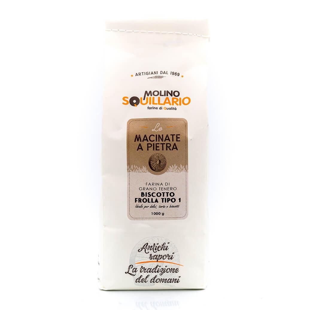 Farina di tipo 1 Biscotto Frolla - Molino Squillario Fronte
