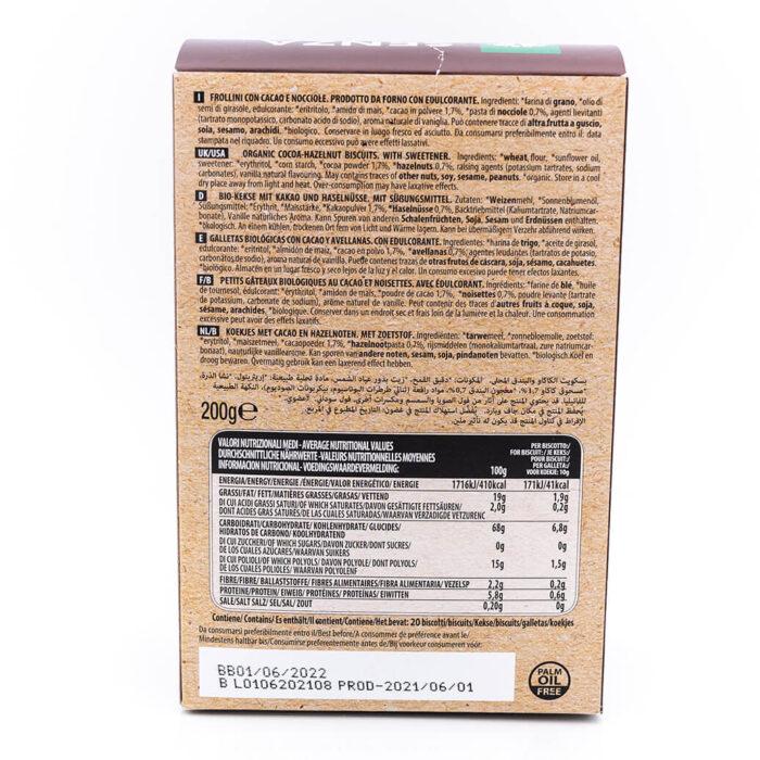 Frollini cacao e nocciole - Senza zucchero e latte - Probios Retro