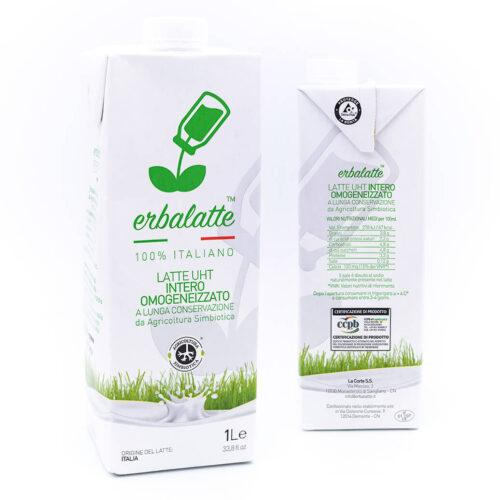 Latte intero - Agricoltura simbiotica - Erbalatte