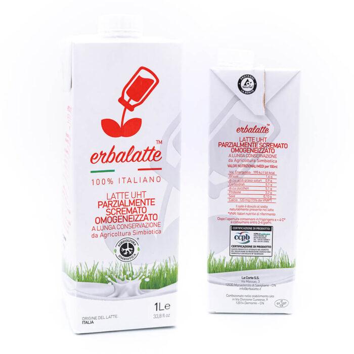 Latte parzialmente scremato - Agricoltura simbiotica - Erbalatte