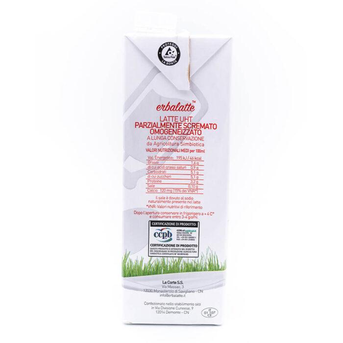 Latte parzialmente scremato - Agricoltura simbiotica - Erbalatte Ingredienti