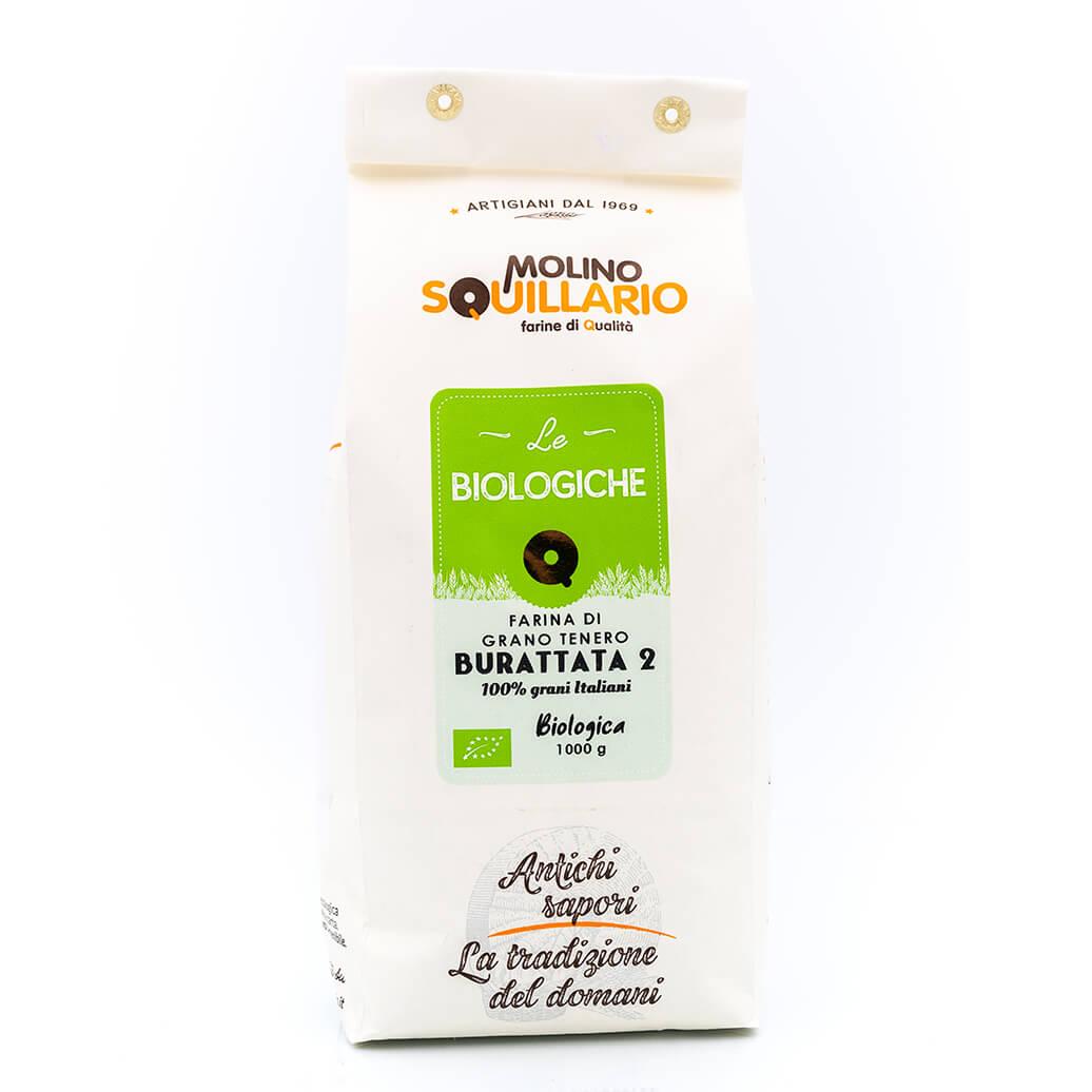 Molino Squillario Farina di Grano Tenero Burattata 2 – Bio Fronte