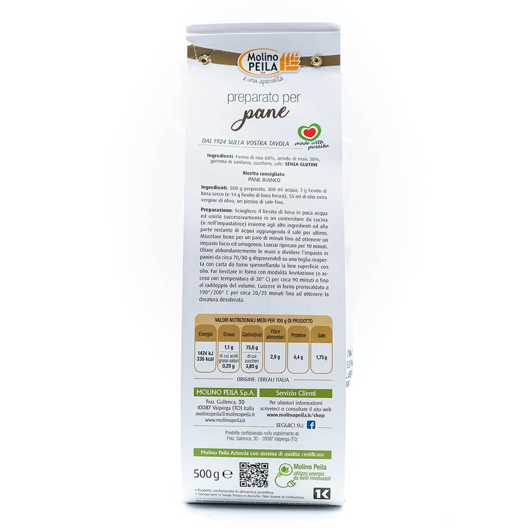 Preparato per pane - Senza glutine - Molino Peila