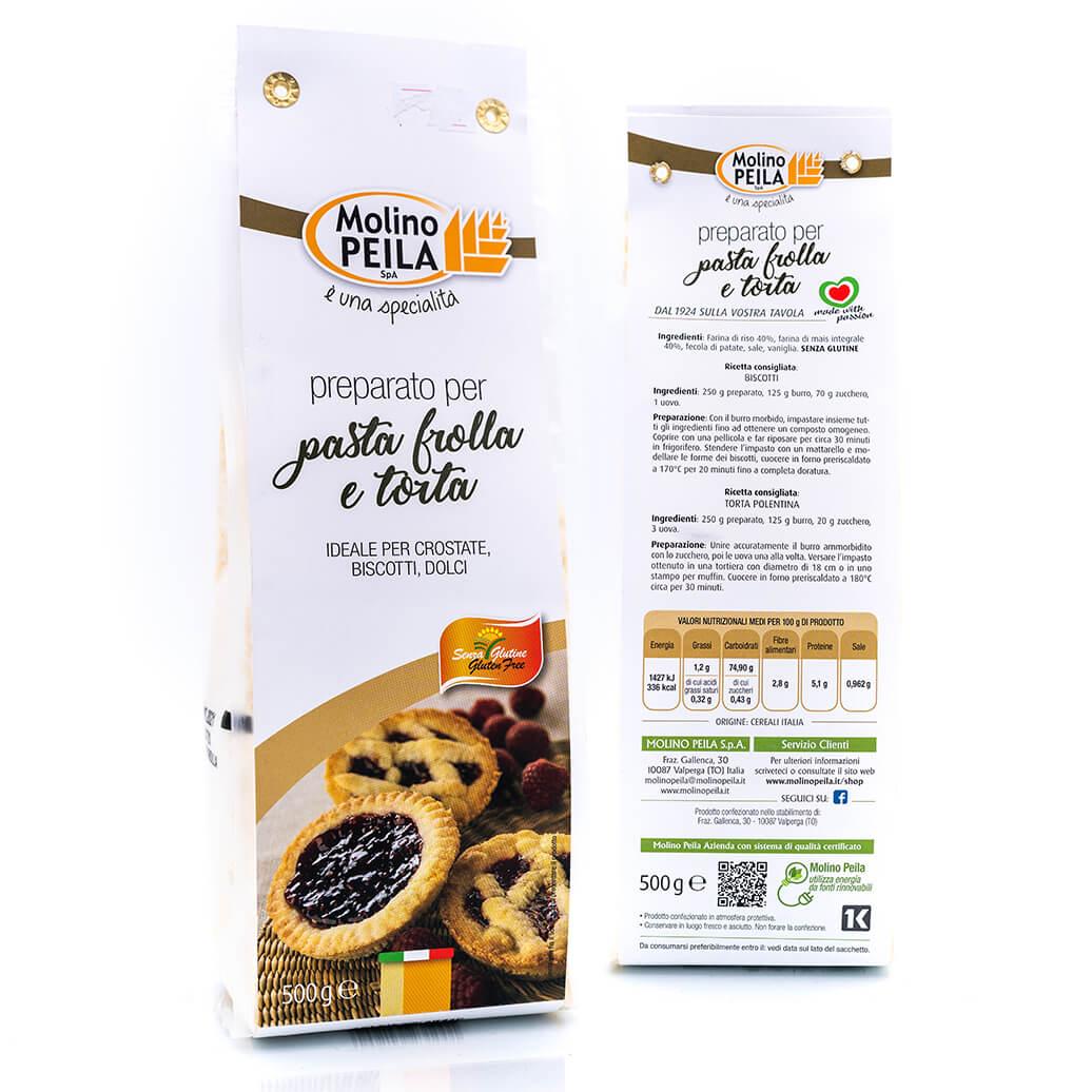 Preparato per pasta frolla e torte - Senza glutine - Molino Peila